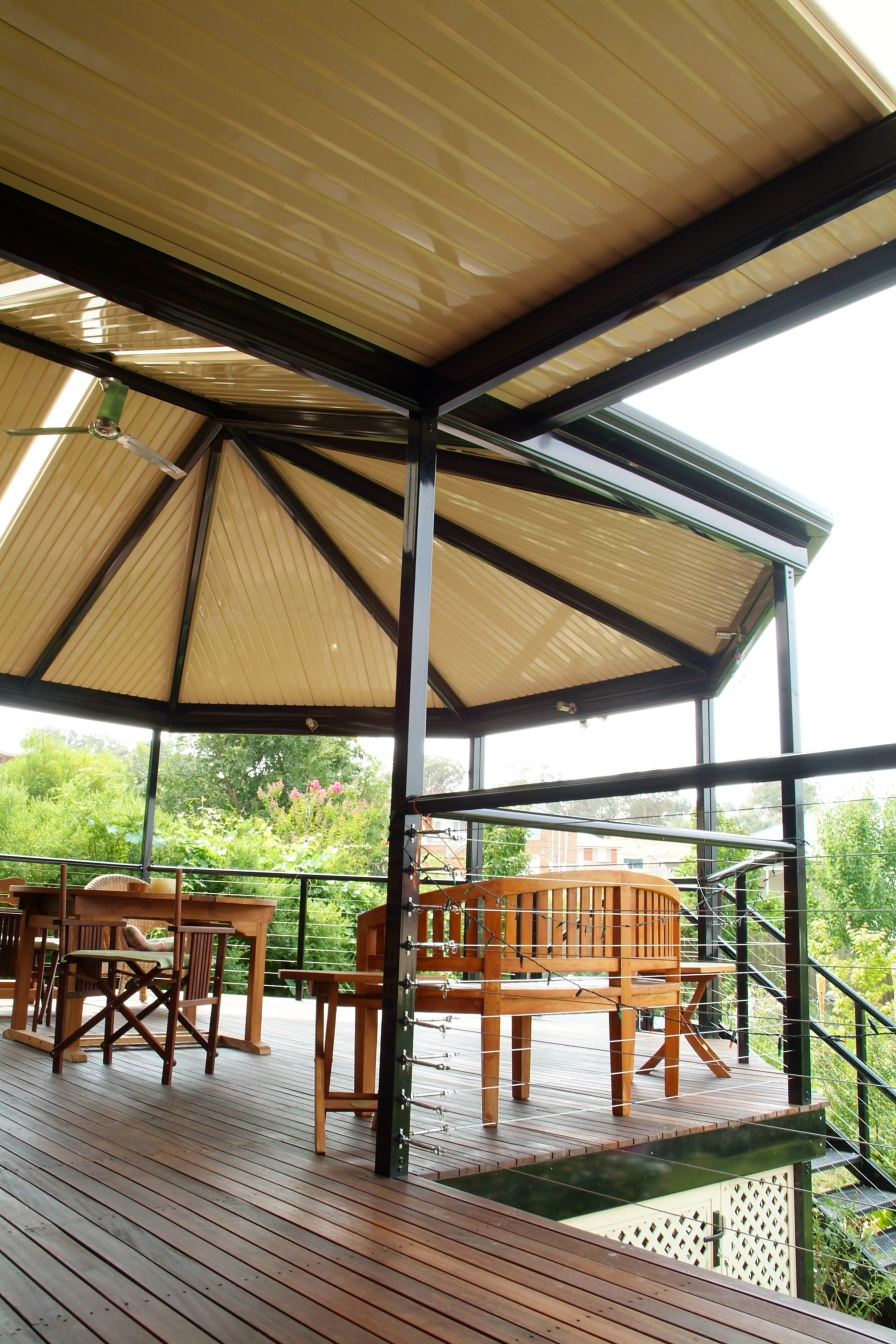 Outback Gazebo end over deck