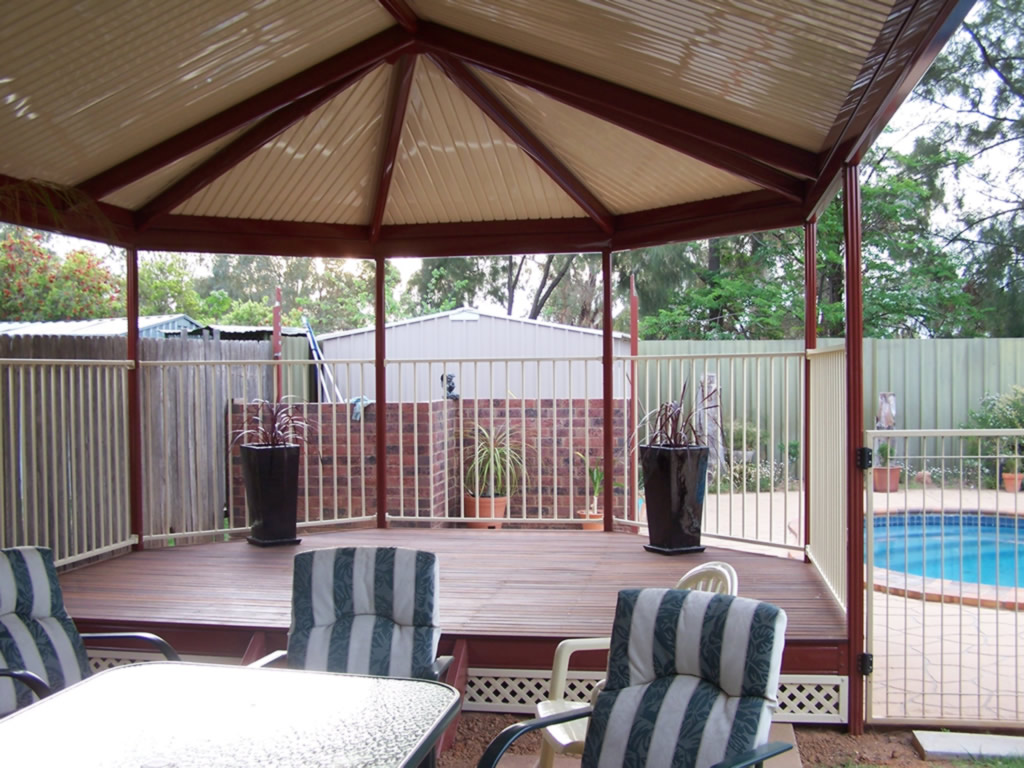 Outback Gazebo end Patio over deck