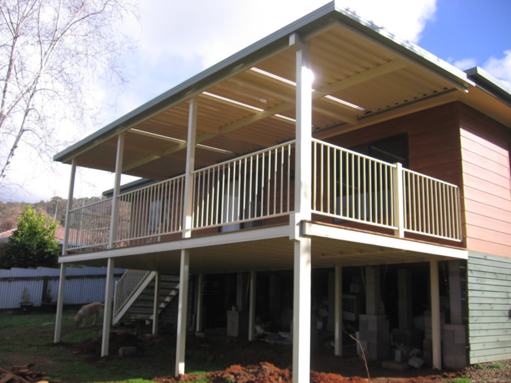 Protect Flat over second storey deck