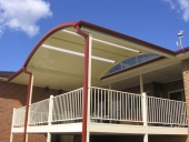 Outback Curved Roof over Deck