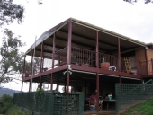 Outback over second storey deck