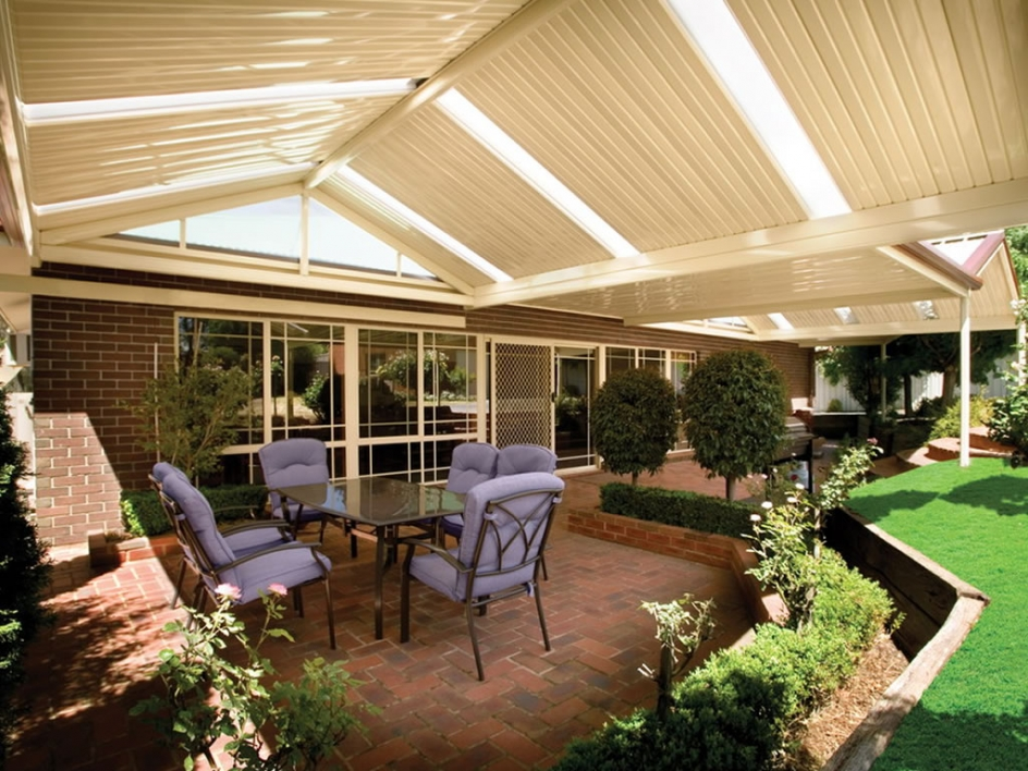 Gable Patio with Light Panels